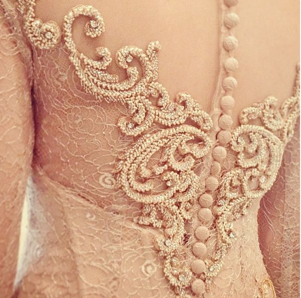 Details of lace kebaya