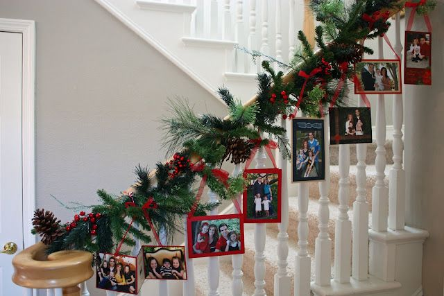 Take your family cards from over the years and frame them to display each year.