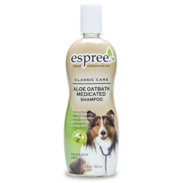 Aloe Oatbath Medicated Shampoo; milde shampoo voor honden en katten met een rode huid. Geschikt voor: Kat, Hond