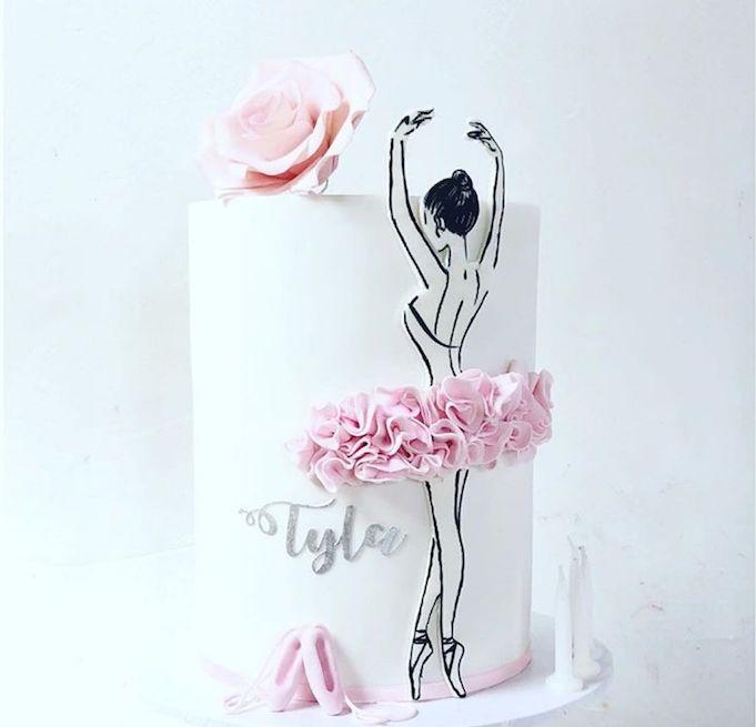 Картинки для торта для девушки с балериной