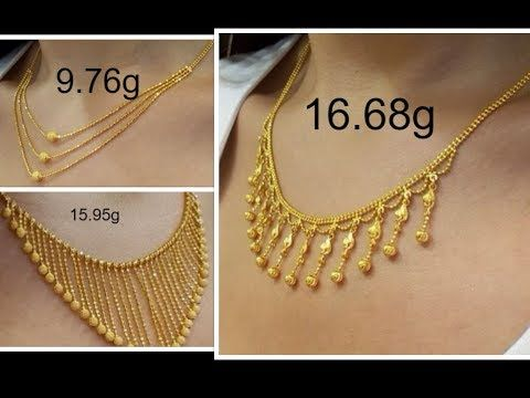 f6a5956d8 Latest Gold Necklace For Women Under 10 Grams | Gold Necklace Designs With  Weight | Today Fashion - YouTube