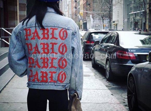 2016 KANYE WEST YEEZY SEASON 3 oversized PABLO men Jackets broken hole jean coat HIPHOP Motorcycle jacket jeans denim jacket men