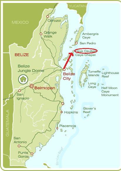 Mapa Cayo Caulker