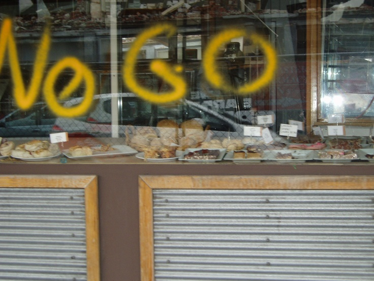Food in a bakery 2 months after the Feb quake