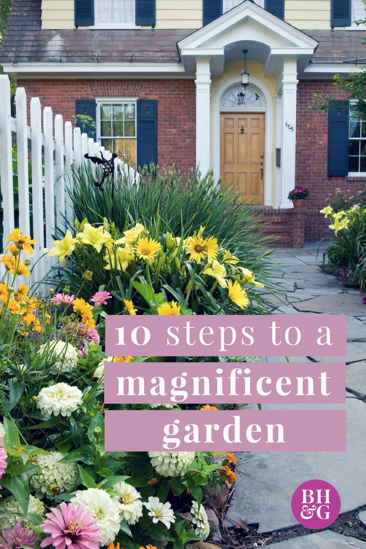 Whether you want ideas on growing a vegetable garden or a flower garden, start from the ground up with our ideas for beginning gardeners. Follow our 10 steps to begin planning and growing your own garden. #gardening #beginnergarden #landscaping