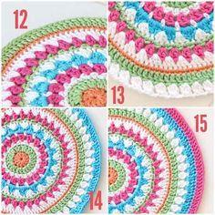 Free crochet mandala pattern                                                                                                                                                     Más                                                                                                                                                                                 Más