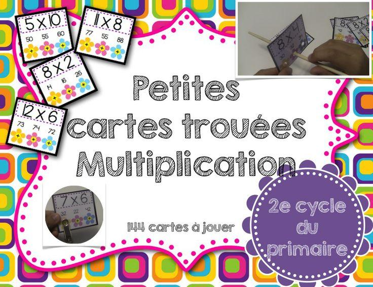 S rie de 144 cartes jouer pour pratiquer les tables de for Les table de multiplication