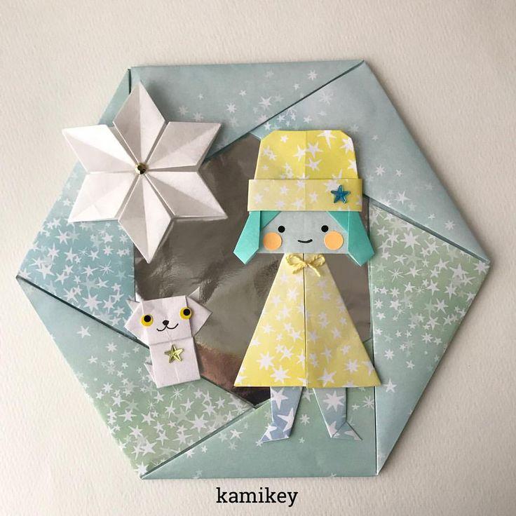 いいね!1,094件、コメント28件 ― カミキィ (kamikey)さん(@kamikey_origami)のInstagramアカウント: 「「サンタガール」に「ニット帽」をかぶせたら、「冬ガール」になります^ ^ 「サンタガール」「ニット帽」「ねこ」「六角たとうの星」各折り紙の作り方動画は、YouTubeチャンネル【創作折り紙…」