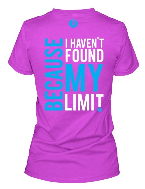Why do we #Compete? Because we haven't found our limits. New tee in #pink triblend. #Fitness #motivate