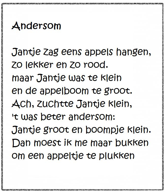 """Versje """"Andersom"""" *liestr*"""