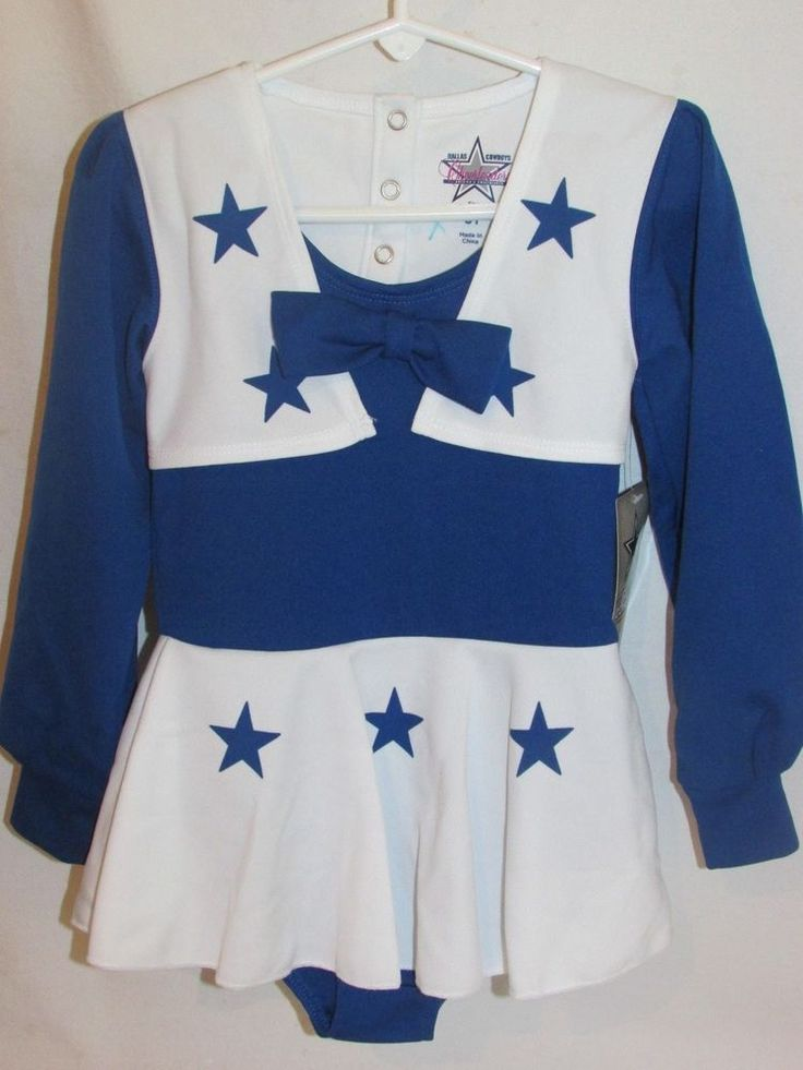 NWT Dallas Cowboys Cheerleader Costume 3T Authentic NFL Apparel One Piece L/S  #NFLApparel #Uniform