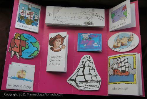 *Wonderful* free pdf Christopher Columbus lapbook
