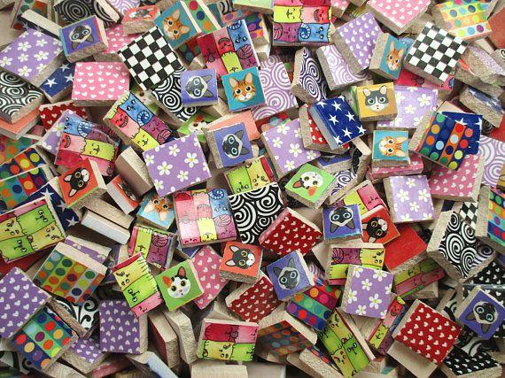 Bulk Mosaic Tiles 2 Pounds Mixed Kitty Cats Love Bright Mixed Mosaic Tile Pieces Bulk Mosaic Tiles For Mosaic A Mosaic Art Mosaic Tiles Ceramic Mosaic Tile