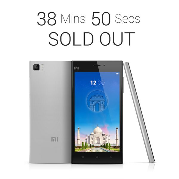 Xiaomi Mi 3 took only 39 Minutes to sell out completely · Gadget NewsTime  ...
