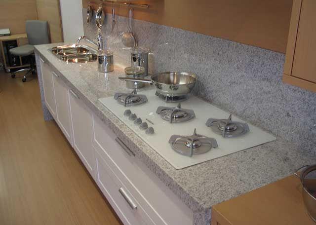 Granito branco polar pia de cozinha