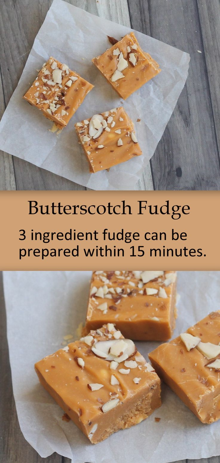Butterscotch fudge is an easy, 3 ingredient fudge. 9x13 It is super delicious and addictive. Fudge stays good for 2 weeks, and is a perfect make-ahead treat for party or to go snack.
