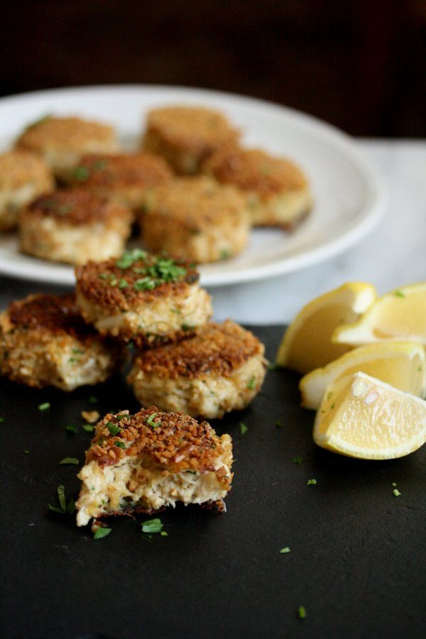 Feeding Friends: Gluten-Free Crab Cakes with Pretzel Crust (and a Cookbook Giveaway!)