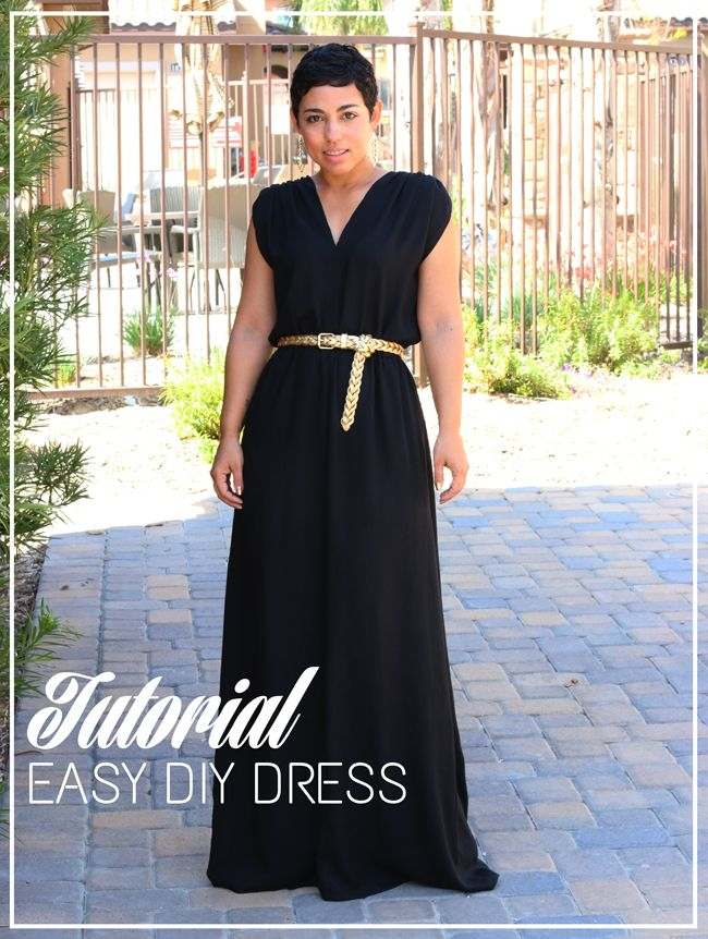 One shoulder maxi dress diy