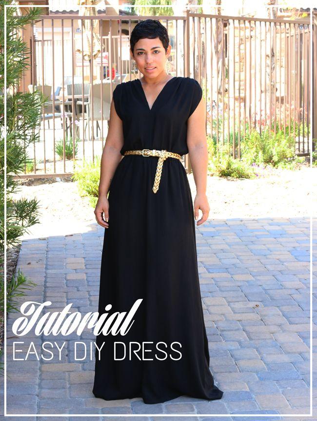 Halter neck maxi dress tutorial
