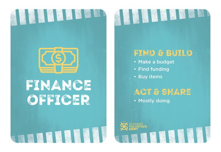 Project Team Role - Finance Officer