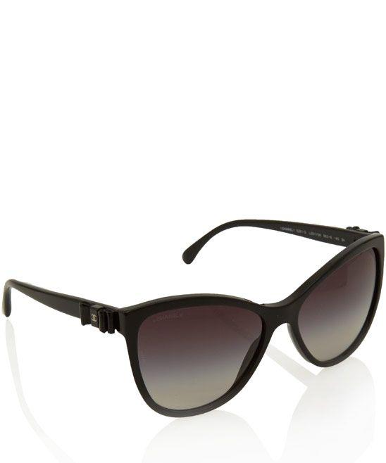 Chanel Black Cat Eye Gradient Sunglasses $376.61