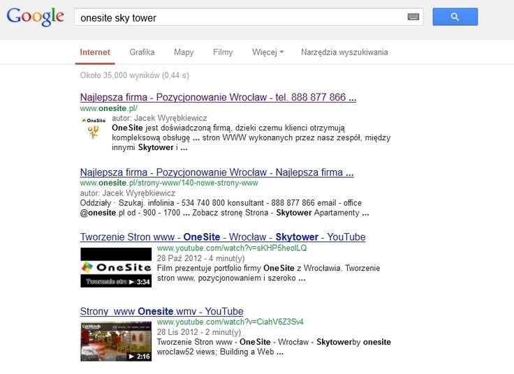 Logo firmy w Google   Pozycjonowanie Google