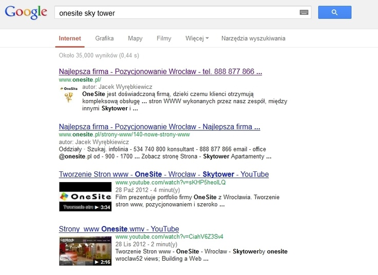 Logo firmy w Google | Pozycjonowanie Google