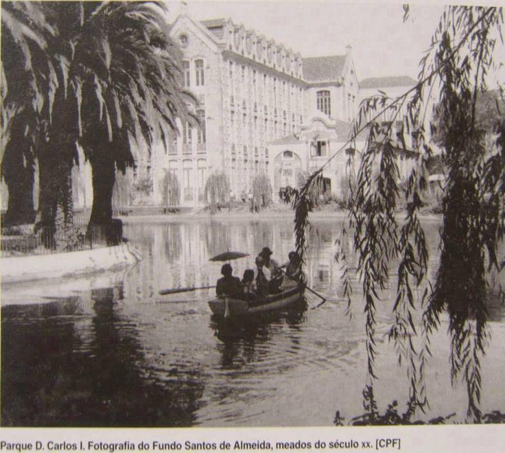 Portugal, Caldas da Rainha, parque, anos 60