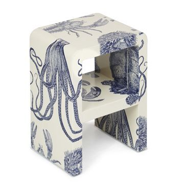 Fabric wrapped side table from www.chicone.com