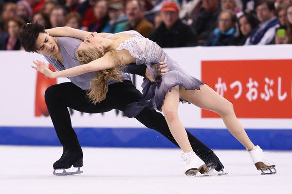 Kaitlyn Weaver Andrew Poje Photos - Kaitlyn Weaver and Andrew Poje of Canada skate in Free Dance Program during Day 4 of the ISU World Figure Skating Championships 2016 at TD Garden on March 31, 2016 in Boston, Massachusetts. - ISU World Figure Skating Championships 2016 - Day 4