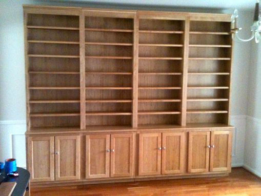 Custom Made Stand Alone Cherry Bookcases