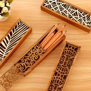 Buy 'Show Home – Laser Cut Wooden Pencil Case' with Free International Shipping at YesStyle.com. Browse and shop for thousands of Asian fashion items from China and more!