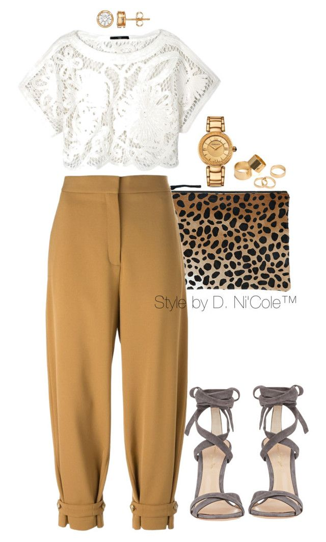 Untitled #3270 by stylebydnicole on Polyvore featuring polyvore fashion style TIBI STELLA McCARTNEY Gianvito Rossi Clare V. Versace Pieces clothing