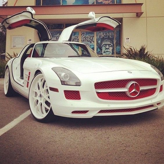 #White Chocolate & Cranberry #Mercedes #SLS #Car (Cool Cars Mercedes)