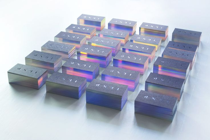 Business cards with glowing edges. Graphic design: Marcin Usarek Accomplishment by Kolory / Kraków