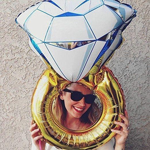 "Wedding Prop Diamond Engagement Ring 30"" Large Mylar Balloon - Inflatable - NEW  #NoBrand #Engagement"
