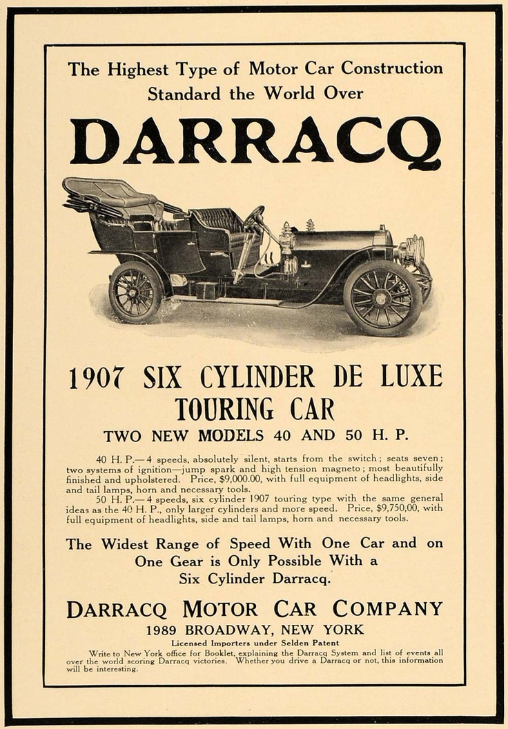 13 best Darracq Automobile Ads images on Pinterest | Cars ...