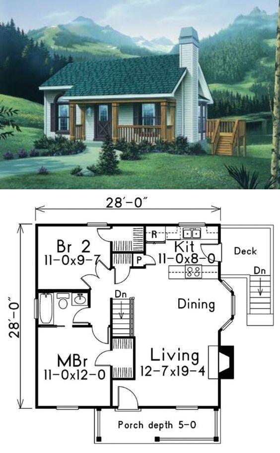 Houseplans #57-167 :: 796 sq. ft.