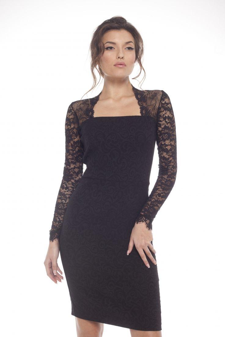 Black lace dress AREFEVA TU9014 2016