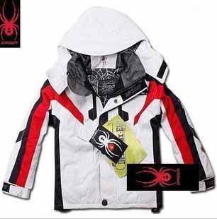 Spyder Kids Ski Wear White Red