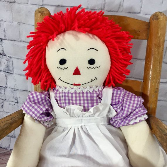 Vintage Large Raggedy Ann Doll 26 inches by Mapleclovervintage