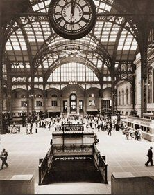 The Clock In Penn Station Was A Popular Meeting Place For People In  Manhattan. It