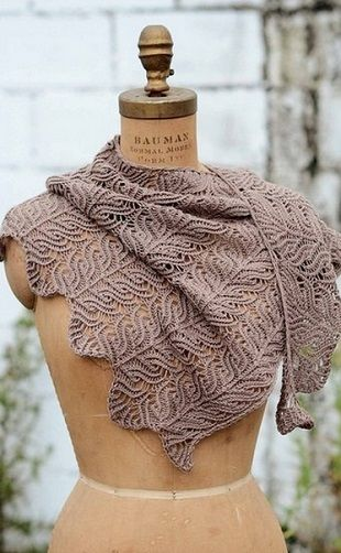 """This is the absolute ultimate knitted shawl... I NEED this stunning shawl!!! """"Узор для палантина спицами"""""""
