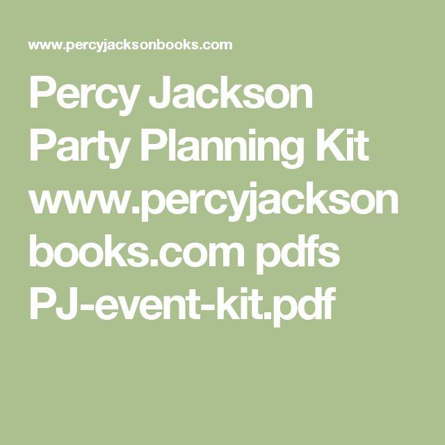 Percy Jackson Party Planning Kit www.percyjacksonbooks.com pdfs PJ-event-kit.pdf