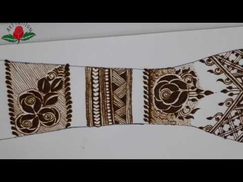 simple mehendi chapter 56 : DIY gulf style modern party mehendi for ramzan eid - YouTube