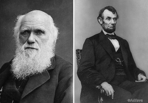 А Чарльз Дарвин и Авраам Линкольн родились в один день — 12 февраля 1809.