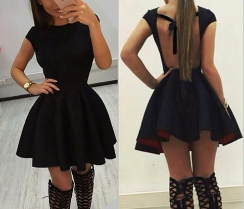 Little Cute   Pretty backless lacing short dress,dresses,princess dress,shirt   Online Store Powered by Storenvy