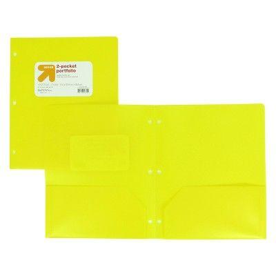 Plastic Folder 2 Pocket Yellow - up & up