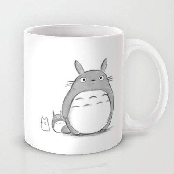 Studio Ghibli Cute Totoro Watercolour 11oz Mug in by TheLilacBrew