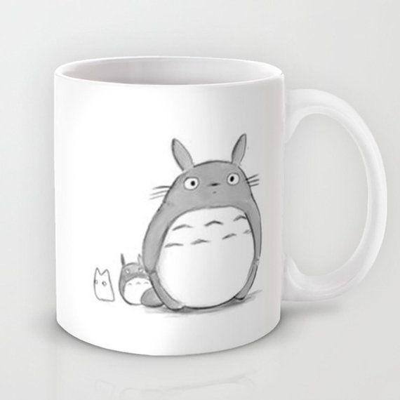 Tasse de 11oz mignon Totoro aquarelle Studio par TheLilacBrew